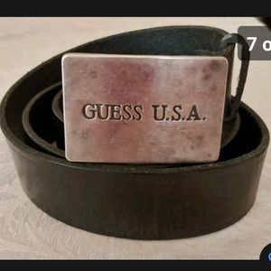 Vintage Brown Leasther Guess USA belt